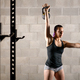 Muscular strong young woman working out - PhotoDune Item for Sale