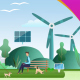 Green Eco-Friendly Cities - Renewable Energy - VideoHive Item for Sale