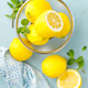 Sliced and whole lemons with mint - PhotoDune Item for Sale