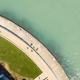 Aerial View People on Walkway Lake Michigan Chicago - PhotoDune Item for Sale