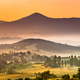 Sunrise over foggy Tuscany village - PhotoDune Item for Sale
