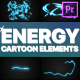 Cartoon Energy Elements | Premiere Pro MOGRT - VideoHive Item for Sale