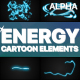 Cartoon Energy Elements | Motion Graphics Pack - VideoHive Item for Sale