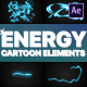 Cartoon Energy Elements | After Effects - VideoHive Item for Sale