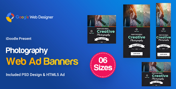 C27 - Photography Banners HTML5 - GWD & PSD