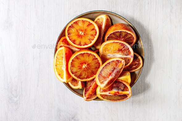 Sicilian bloody oranges - Stock Photo - Images
