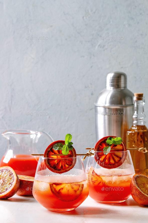 Blood orange cocktail - Stock Photo - Images