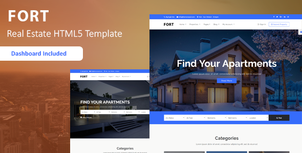 Fort - Real Estate HTML Template