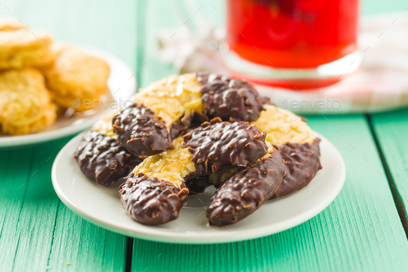 Sweet biscuits dessert. - Stock Photo - Images