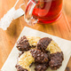 Sweet biscuits dessert and red fruity tea. - PhotoDune Item for Sale