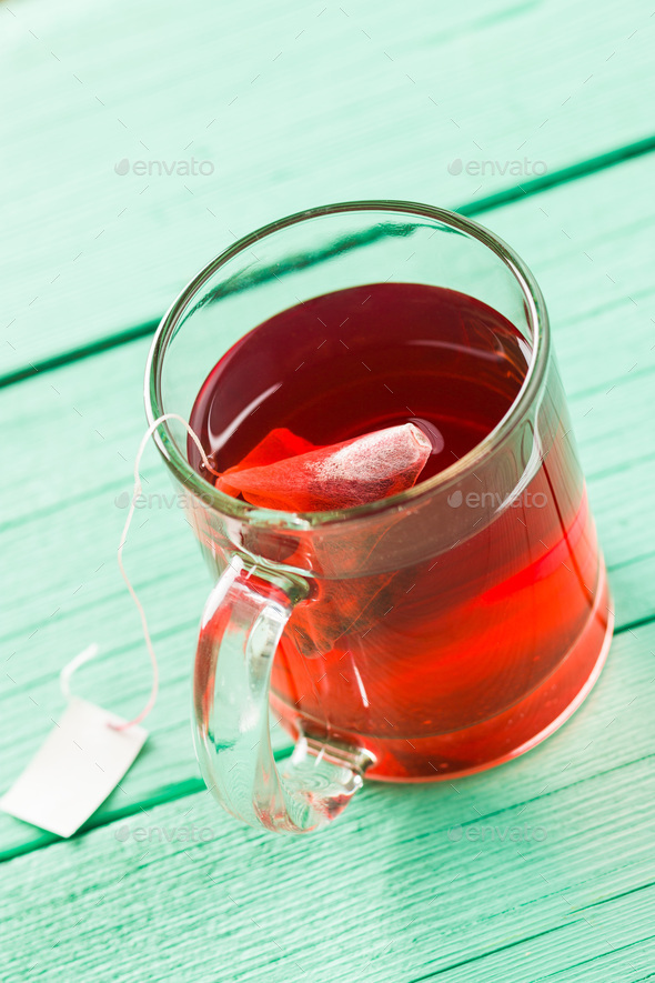 Fruit red tea. - Stock Photo - Images