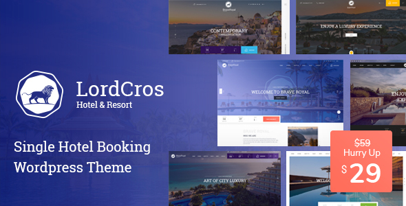 LordCros - Hotel Booking WordPress Theme