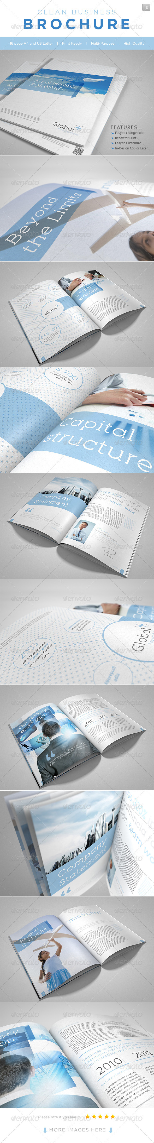 Clean Business Brochure - Corporate Brochures