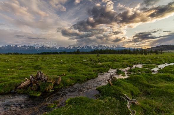 Russia, Altai mountains, Severo-Chui Range - Stock Photo - Images