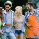 Group of happy friends having outdoor barbecue laughing together - PhotoDune Item for Sale