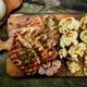 Steak turkey grill on wooden cutting board - PhotoDune Item for Sale