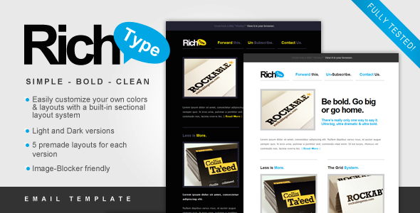 Free Download Rich Typography Email Template Nulled Latest Version