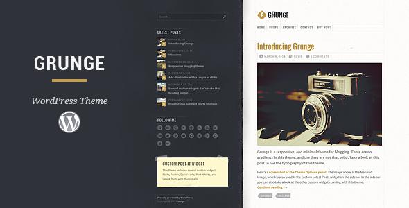 Download themeforest Grunge WordPress Theme v2.0.0 nulled