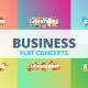 Business - Typography Flat Concept - VideoHive Item for Sale