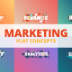 Marketing - Typography Flat Concept - VideoHive Item for Sale