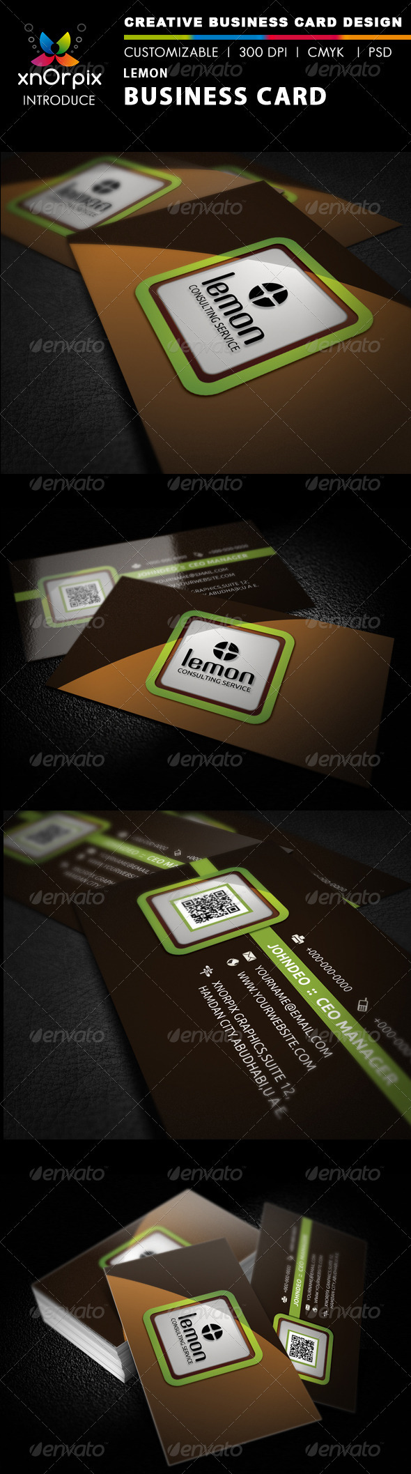 Lemon Business Card - Business Cards Print Templates