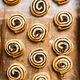 Freshly baked homemade rolls and swirls on baking tray - PhotoDune Item for Sale