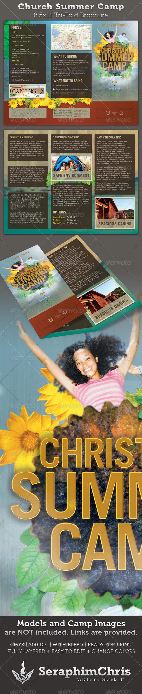 Church Summer Camp 8.5x11 Brochure Template - Church Flyers