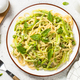Pasta spaghetti with zucchini top view - PhotoDune Item for Sale