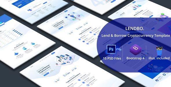 Lendbo - Lend and Borrow Cryptocurrency PSD Templates