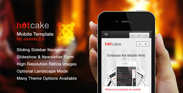 HotCake for Joomla — Retina Mobile Template