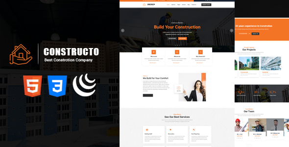 Special Constructo - Responsive HTML5 Construction Service Template