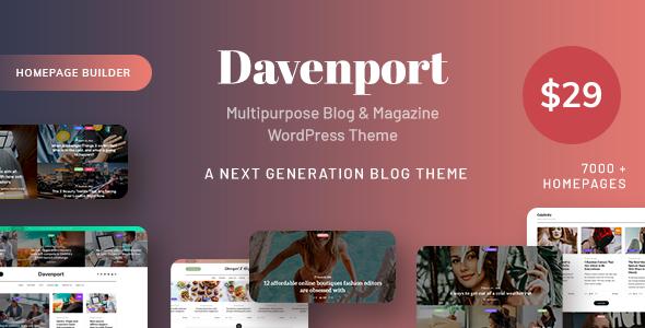 Davenport - Multipurpose Blog and Magazine WordPress Theme