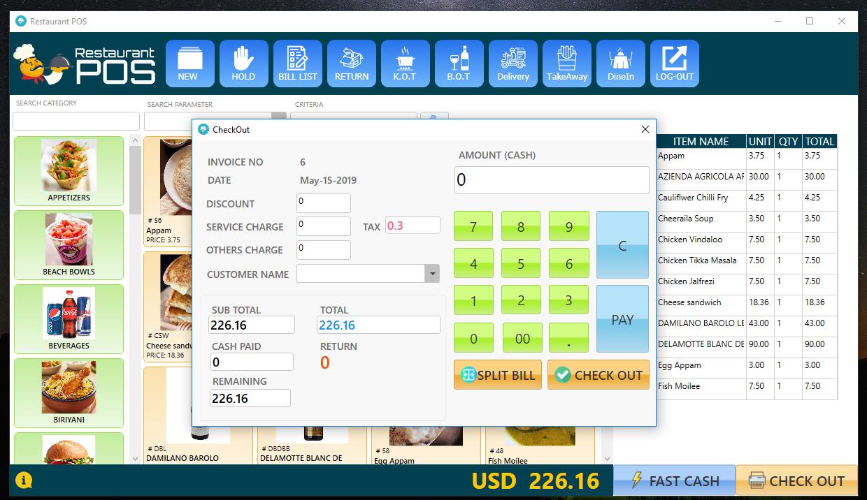 RestaurantPOS - VB NET WPF Application With Free ASP NET Web extension