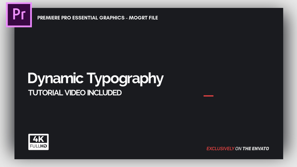 Dynamic Minimalism – Essential Graphics | Mogrt
