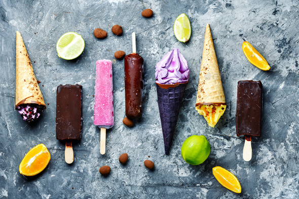 Assorted ice cream - Stock Photo - Images