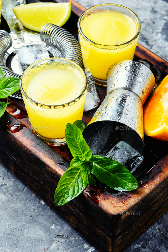 Fresh cocktail with orange - Stock Photo - Images