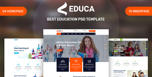 EDUCA - Education PSD Template