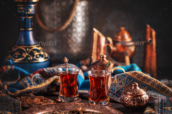 Cup of turkish tea - Stock Photo - Images