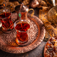 Turkish tea with authentic glass cup - PhotoDune Item for Sale