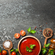 Cooking background with spices, tomatoes and sauce - PhotoDune Item for Sale