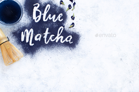Blue matcha powder - Stock Photo - Images