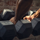 Man taking dumbbell weights - PhotoDune Item for Sale