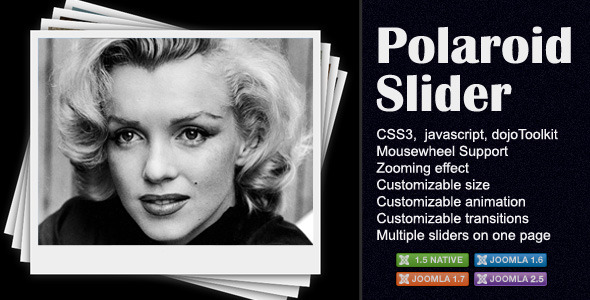 Polaroid Slider for Joomla - CodeCanyon Item for Sale