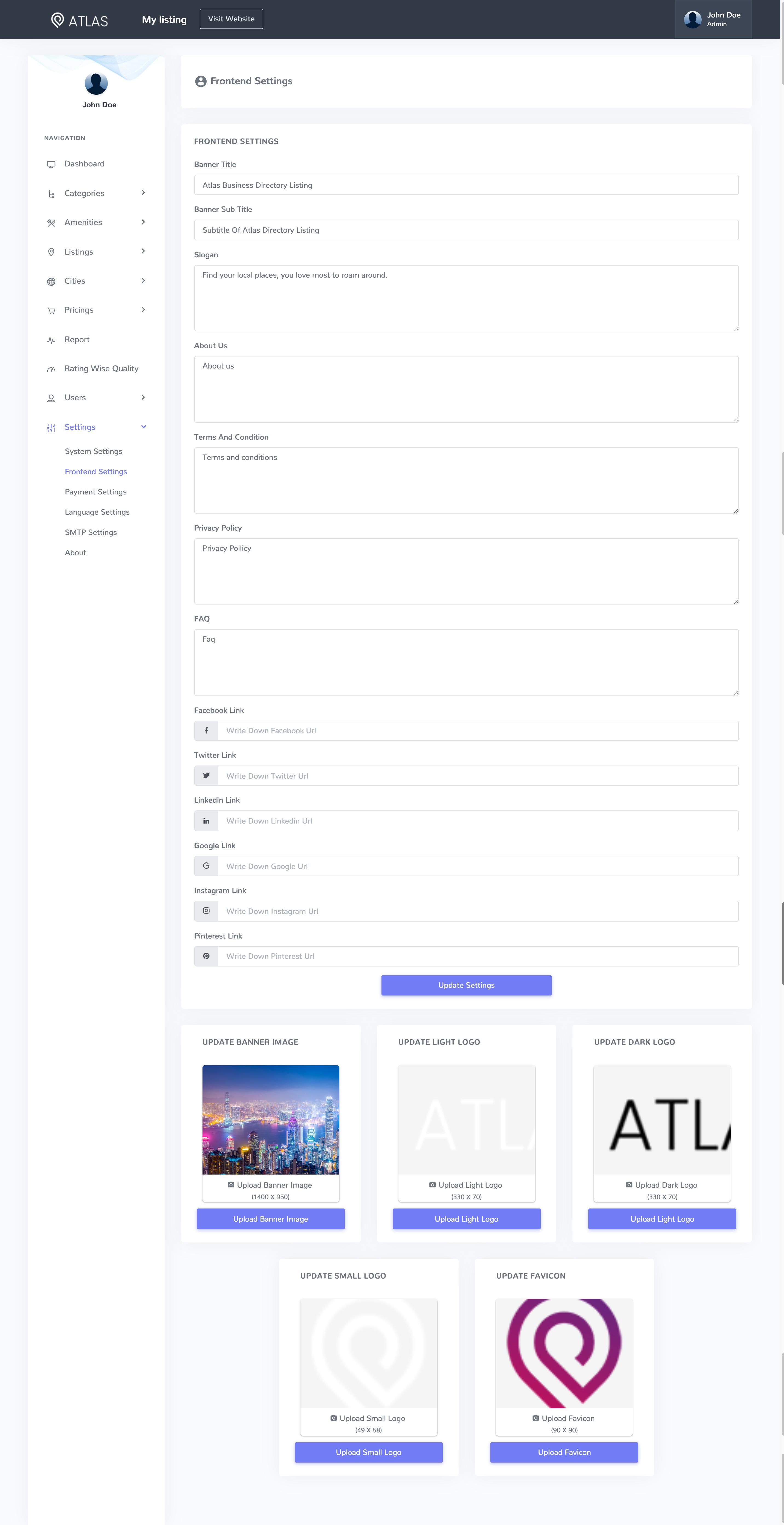 Atlas Business Directory Listing