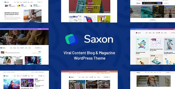 Saxon - Viral Content Blog & Magazine Marketing WordPress Blog Magazine Theme