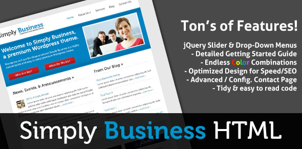 Simply Business – HTML Small Business Template