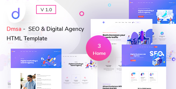 Dmsa - SEO & Digital Agency HTML Template by TheMazine