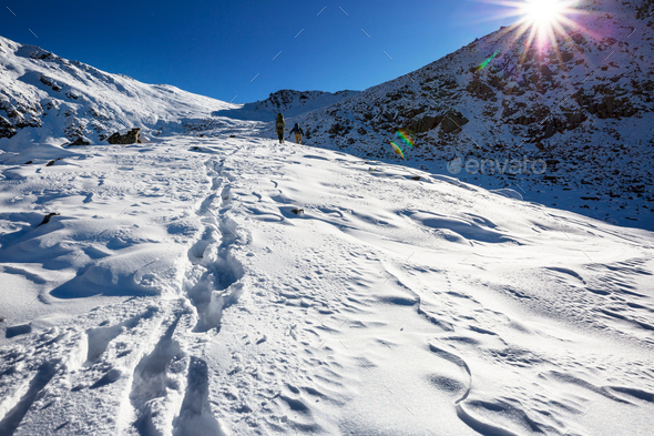 Winter hike - Stock Photo - Images