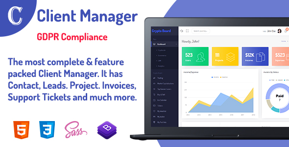 Client Manager - CRM & Billing Management Web Application with GDPR Compliance