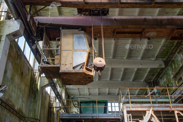Abandoned iron mine in the Ore Mountains - Stock Photo - Images